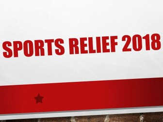 Sports Relief 2018 - PowerPoint Presentation - Assembly - In Class