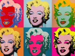 Pop Art described - in quotes of Andy Warhol & Roy Lichtenstein + images; for students & pupils