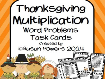 Thanksgiving Multiplication Word Problems