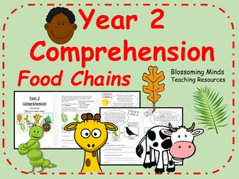 Year 2 Reading Comprehension - Food Chains - Science