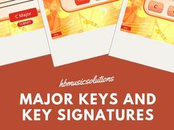 Major Scales And Key Signature Music KS2/KS3 Sample Module from Grade 1 Theory