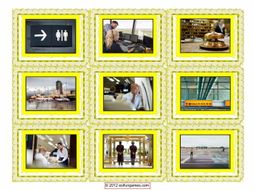 Airports & Hotel Cards 4 Pages = 36 Cards