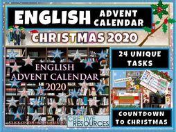 English Christmas Activity Advent Calendar