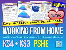 PSHE Home Learning Coronavirus Cover Work