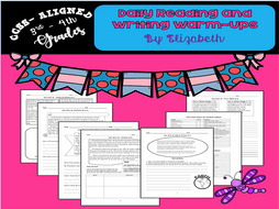 Daily Reading and Writing Warm-Ups CCSS-Aligned for 3rd through 5th Grade