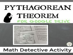 Pythagorean Theorem and Converse Math Detective for Google Drive