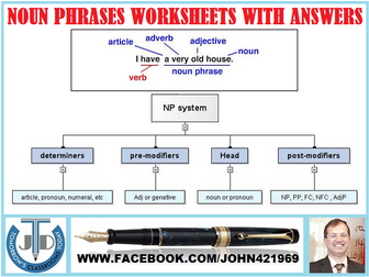 NOUN PHRASES WORKSHEETS WITH ANSWERS