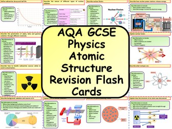 AQA KS4 GCSE Physics (Science) Atomic Structure Revision Flashcards