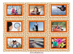 Free Time & Hobbies Cards 4 Pages = 36 Cards