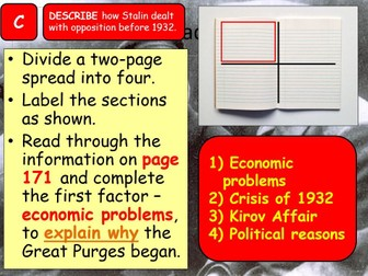 AQA A-Level Tsarist & Communist Russia Lesson 76 (Great Purges)