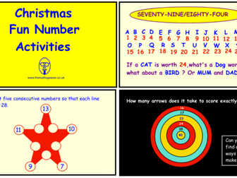 Christmas Fun Number Activities (SmartBoard version)