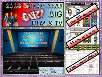 End of Year Film and Media Quiz