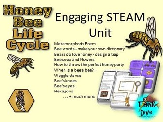 Bees Life Cycle, Project based learning, KS1, NGSS, STEAM, Biomimicry