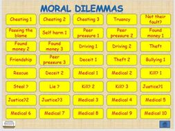 Moral Dilemmas talking about values