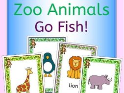 Zoo animals Go Fish! game for a zoo topic or EFL ESL EAL