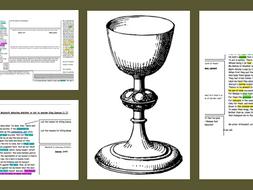 GCSE Revision Macbeth wider text comparing soliloquies 1,7 & 3,1 pre-murder