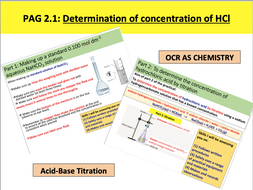 PAG 2.1 Determination of concentration of hydrochloric acid