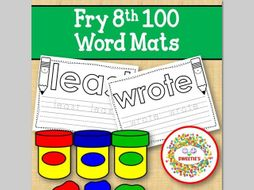 Sight Word Mats:  Fry 8th 100 Word Mats – B/W