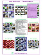 News Media 7 Game Plus 2 Worksheet Bundle