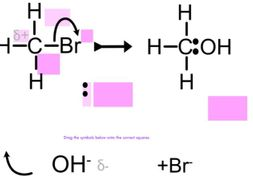 Nucleophilic substitution drag & drop
