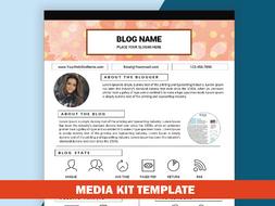 Blog media kit template mixed media kit instant download ad rate blog media kit template mixed media kit instant download ad rate sheet template maxwellsz