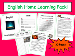 English Home Learning Packs KS3