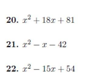 Quadratic factorisation (coefficient 1) worksheet with solutions