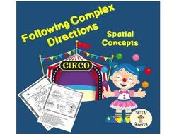 Spatial Concepts Worksheets-Following Complex Directions
