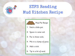 Mud Kitchen Ideas Eyfs.Mud Kitchen Recipe Eyfs Reading Activity Phase Four Letters