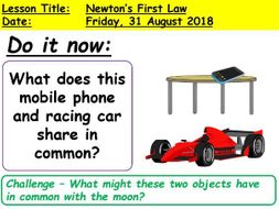newtons 1st law by mrbphysics teaching resources tes