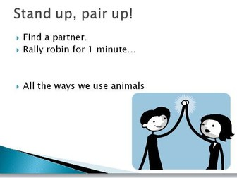 The way we use animals - explain your opinion/ persuasive writing