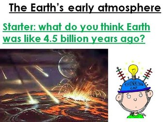 New AQA 9-1 Chemistry Topic 9 Chemistry of the atmosphere - The Earth's early atmosphere