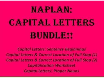 NAPLAN: Capital Letters Bundle