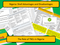 AQA 9-1 Case Study Nigeria and the role of Shell as a TNC.