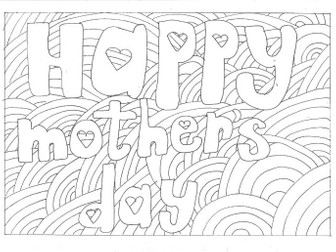 Mother's Day Colouring Page (Special Days)