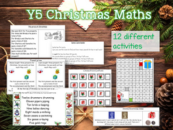 Y5 Christmas Maths - 12 Activities