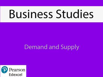 Business: Demand and Supply Powerpoint (NEW SPEC) - Edexcel