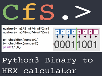 Python3 Binary to HEX Calculator