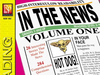 Reading the Newspaper: In the News! Volume 1