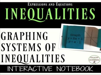 Graphing Systems of Inequalities Notebook Foldable