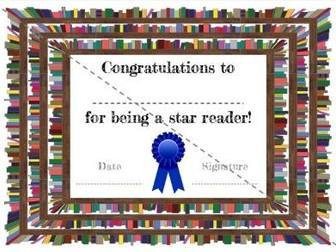 Star Reader Certificate