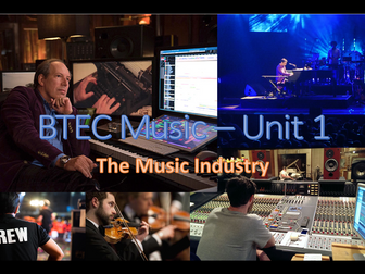 BTEC First Award for Music Resources