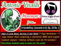 AQA A Level Music Vivaldi Movement 1