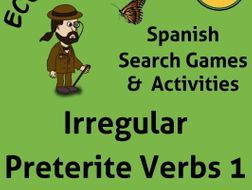 Spanish Verb Games for Irregular Preterite Verbs.  Juegos para aprender verbos irregulares.
