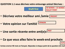 FRENCH GCSE WRITING PREPARATION