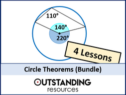 Circle Theorems Bundle (4 Lessons)