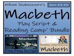 UKS2 Literacy - William Shakespeare's Macbeth - Play Script & Reading Comprehension Bundle