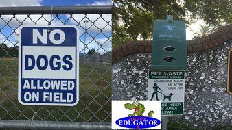 Dollar Stock Photos - Dog Control Signs