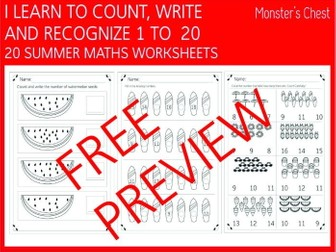 FREE PREVIEW MATHS WORKSHEETS