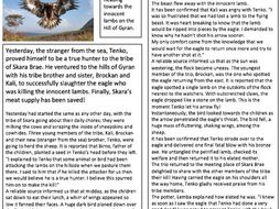 Stone Age English Scheme of Work UKS2